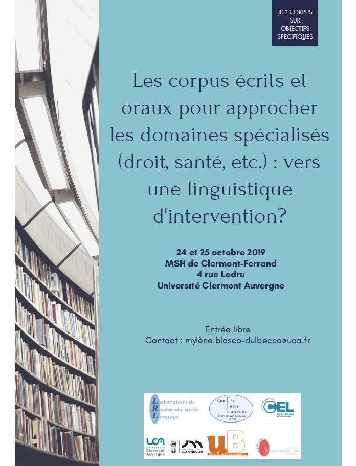 Affiche colloque Corpus 2